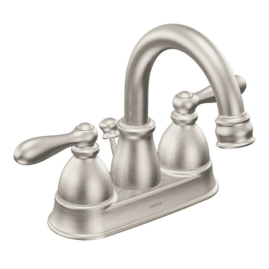 Moen Caldwell Spot Rist Brushed Nickel 2 Handle 4 In Centerset