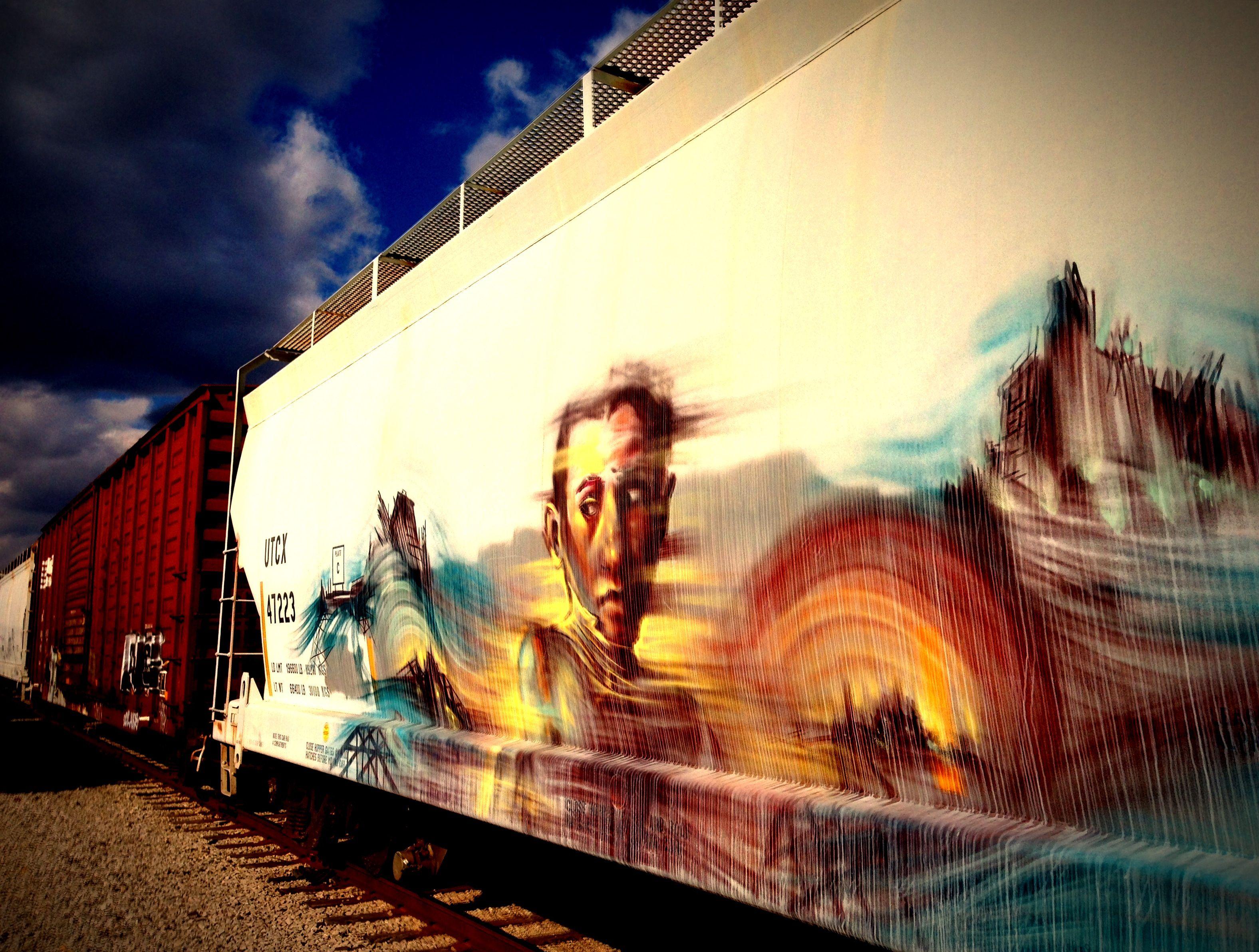 Train Graffiti, I dont mind the trains in Rochelle bc I love ...