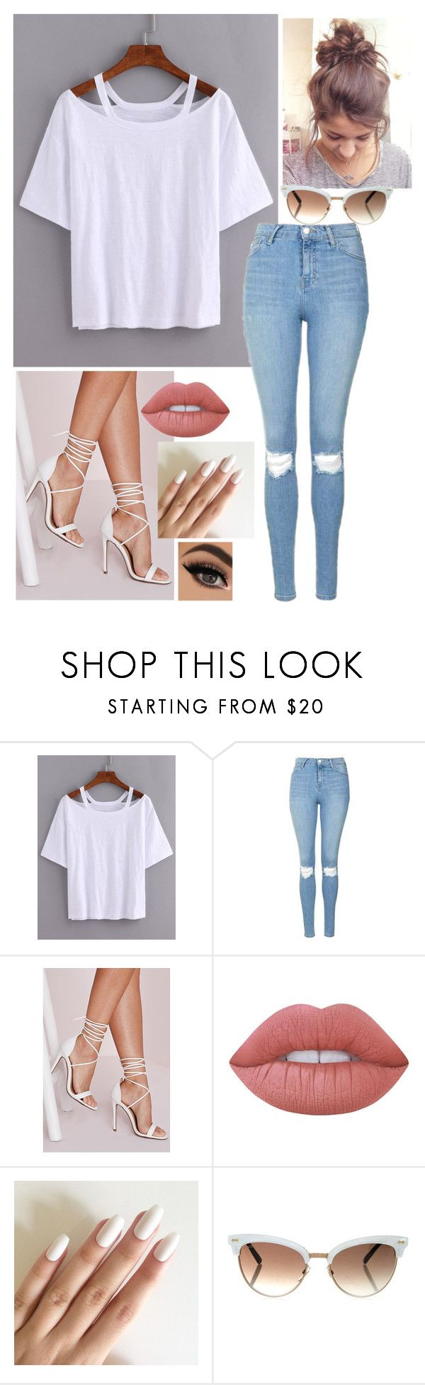 """""""Outfit #109"""" by written-off-blog ❤ liked on Polyvore featuring Topshop, Missguided, Lime Crime and Gucci"""