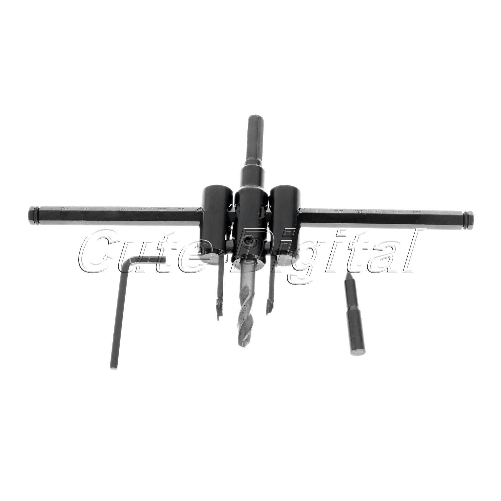 adjustable metal wood circle hole saw drill bit cutter kit