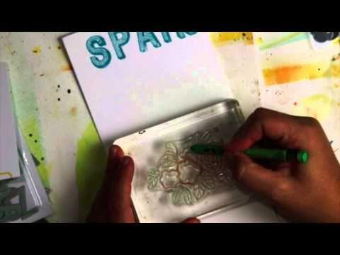 art medium tutorial using Neocolor ll and Color Theory Acrylic Paints - Celine Navarro @studio_calico