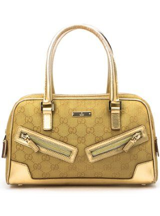 8f8cc1d386fb Gucci Gold GG canvas and leather doctor bag- I want! Call me doc ...