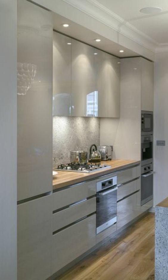 1001 Ideas De Decorar Vuestra Cocina Blanca Y Gris Decoracion De Cocina Moderna Diseno Muebles De Cocina Decoracion De Cocina