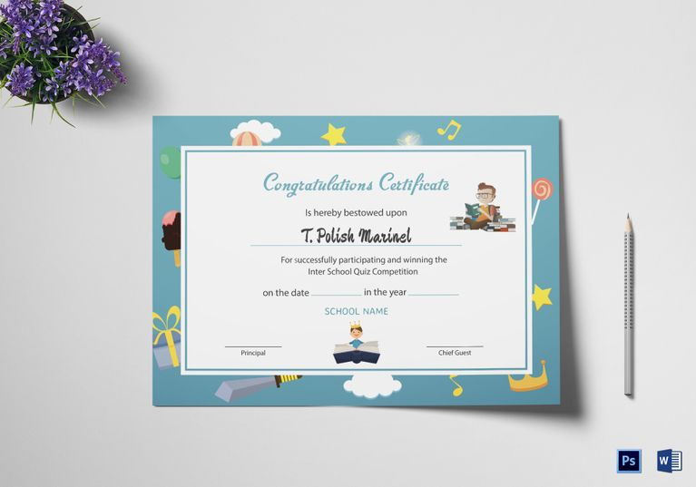 Reading Award Congratulations Certificate Template Pinterest - congratulations certificate templates