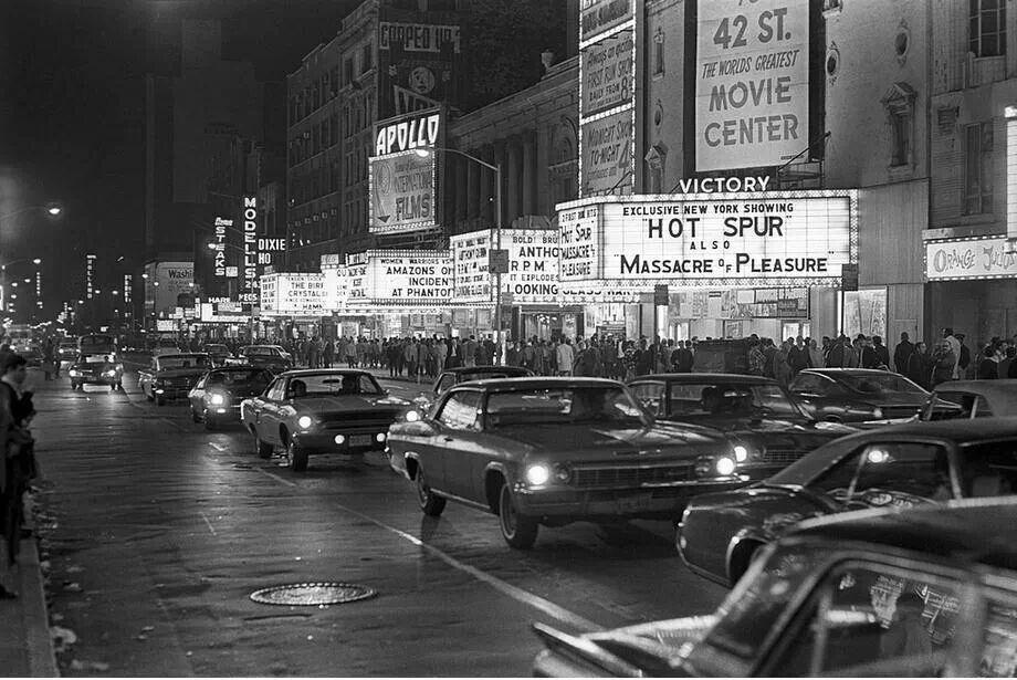 42nd Street Nyc October 1970 New York Street The Bowery Boys