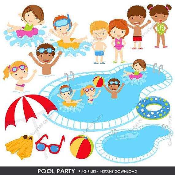 Pool Party Clipart Summer Clipart Pool Clip Art Beach ...