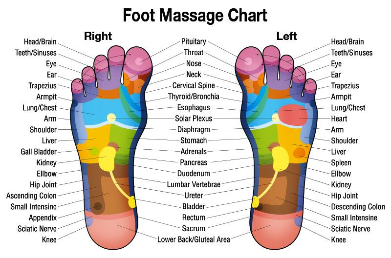 High resolution free downloadable foot massage chart for relaxation