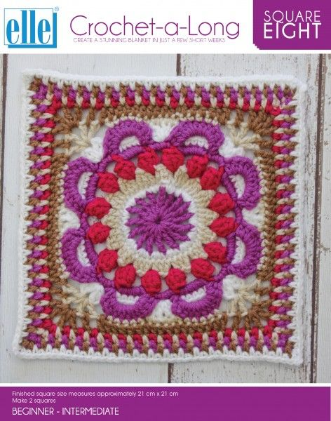 CAL Square 8 - Crochet-a-Long - Patterns