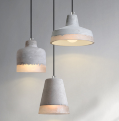 DELIA Cement Pendant Light (Pre-order) - Lights&Co #pendantlighting