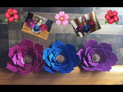 DIY Como hacer flores en Foami o Goma Eva!!! Perfectas para decorar eventos - YouTube