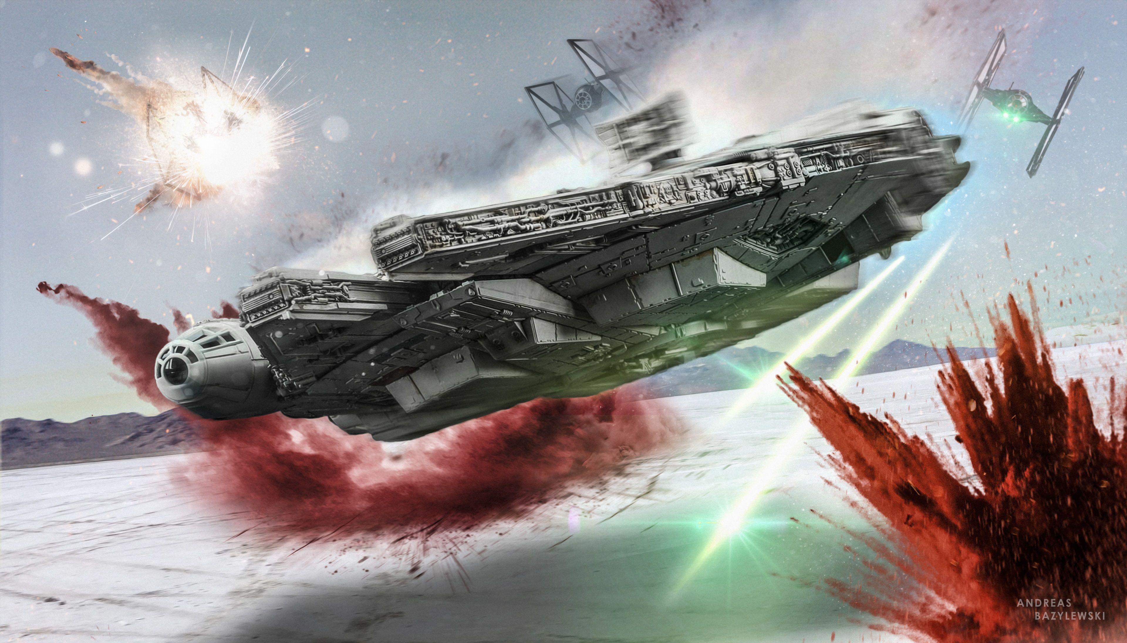 3840x2192 Star Wars The Last Jedi 4k Wallpaper Download Star Wars Spaceships Millennium Falcon Star Wars Wallpaper