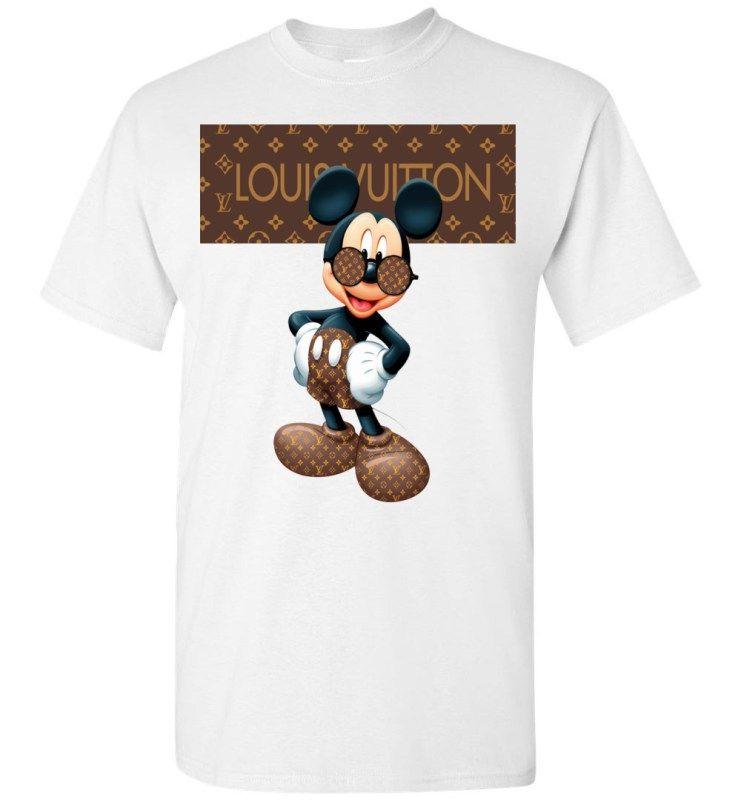 cccda6ea Louis Vuitton Stripe Mickey Mouse Stay Stylish Men's T-Shirt in 2019 ...