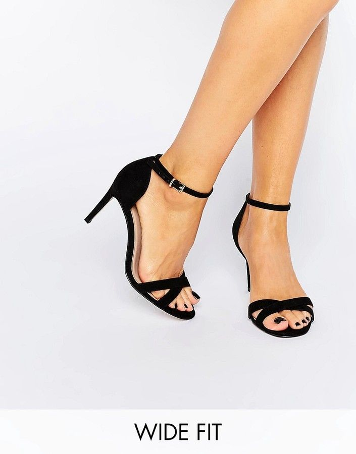 ad540265544b Asos Hide And Seek Wide Fit Heeled Sandals
