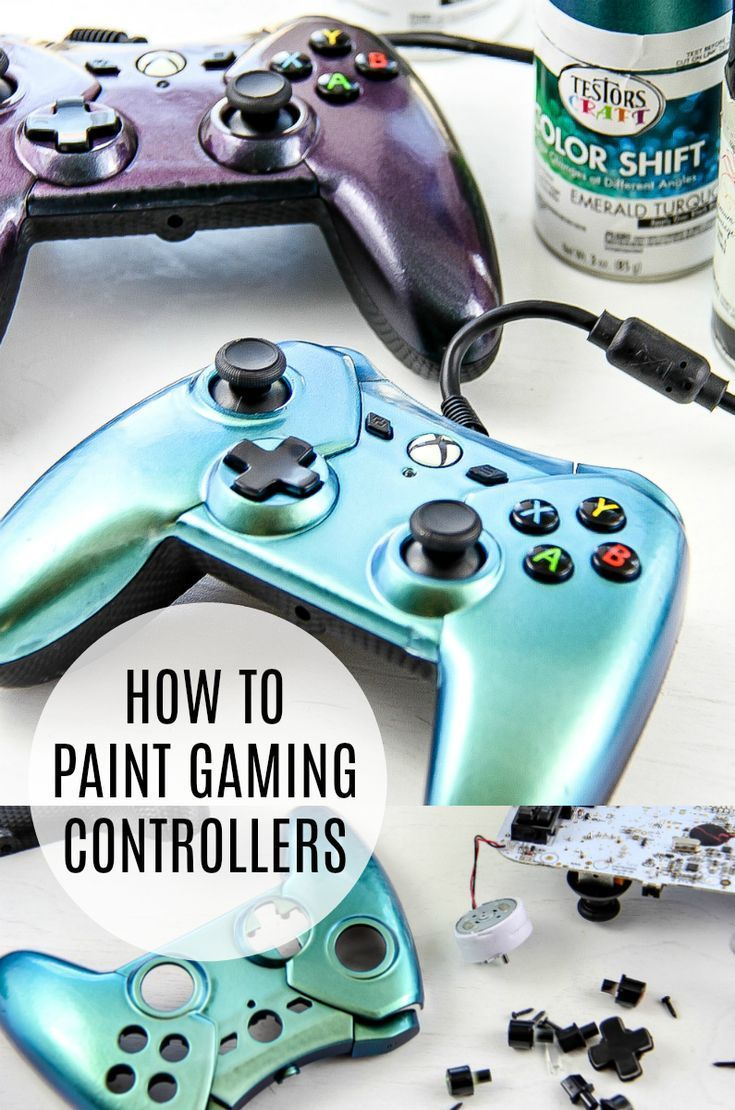 How to Paint Gaming Controllers | Game controller, Video ...