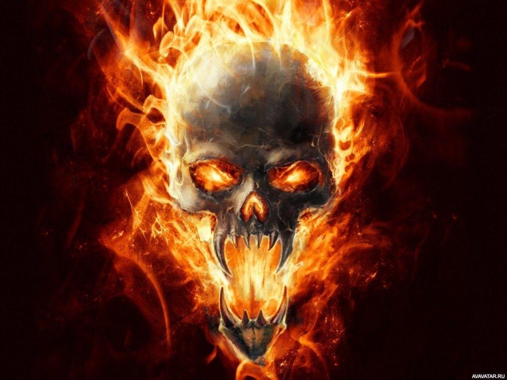 images of skulls on fire djiwallpaper co