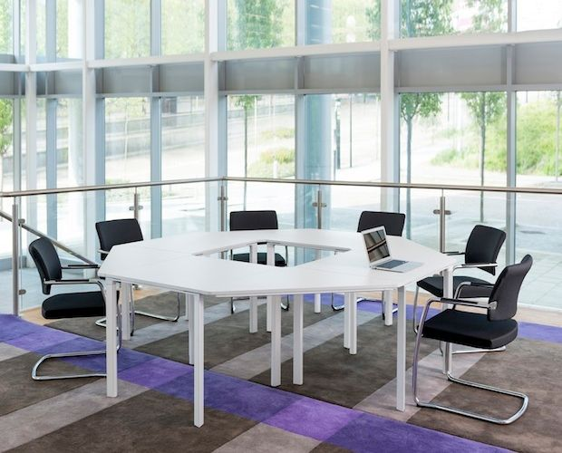 The Unique MeetU Table System Features A Toolfree Design Of - Modular conference table system