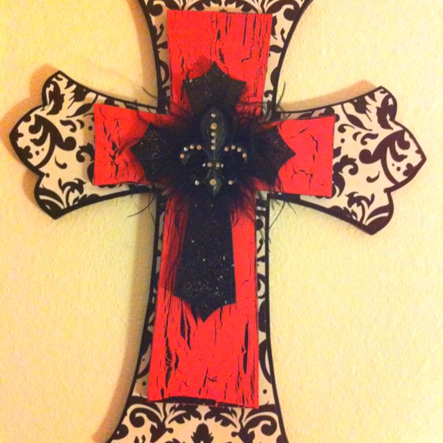 DIY crosses :) made this for my room. It has so much more meaning ...