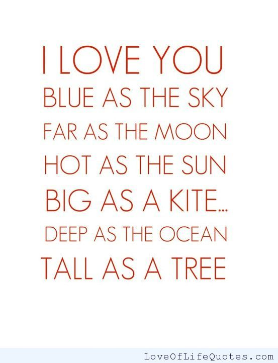 I love you this much! - http://www.loveoflifequotes.com/love/love-much/