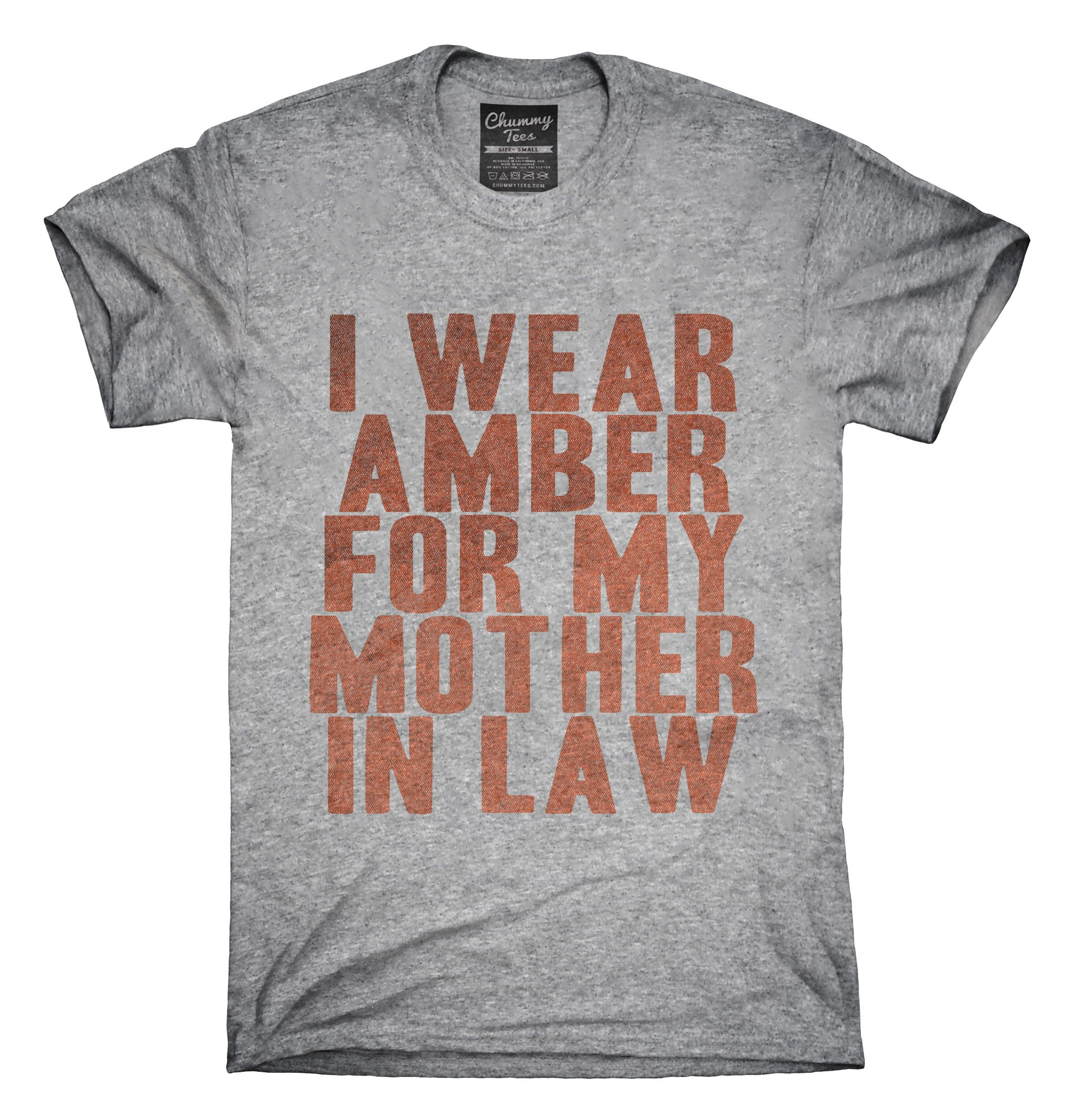 Mother wear for wedding  I Wear Amber For My Mother In Law Awareness Support TShirt Hoodie
