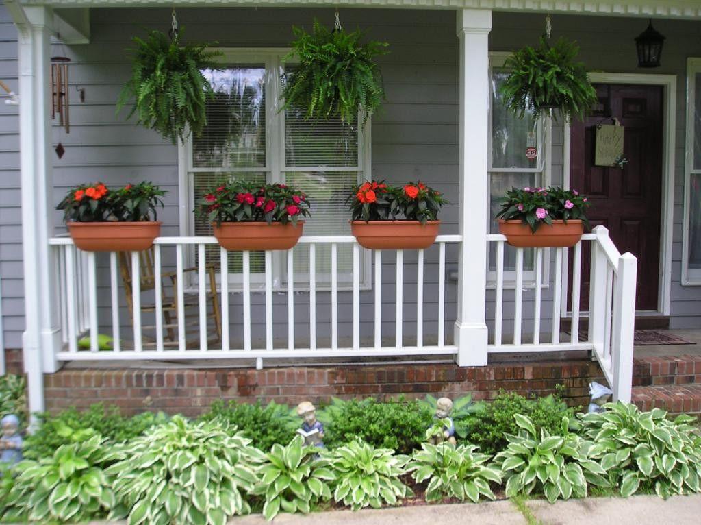 Rail Planters   Railing flower boxes, Deck railing ...
