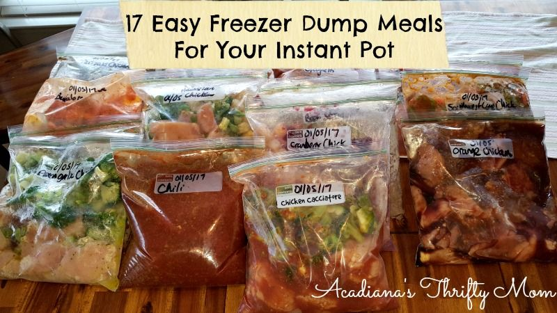 17 Easy Freezer Dump Meals For Your Instant Pot Thrifty Finds