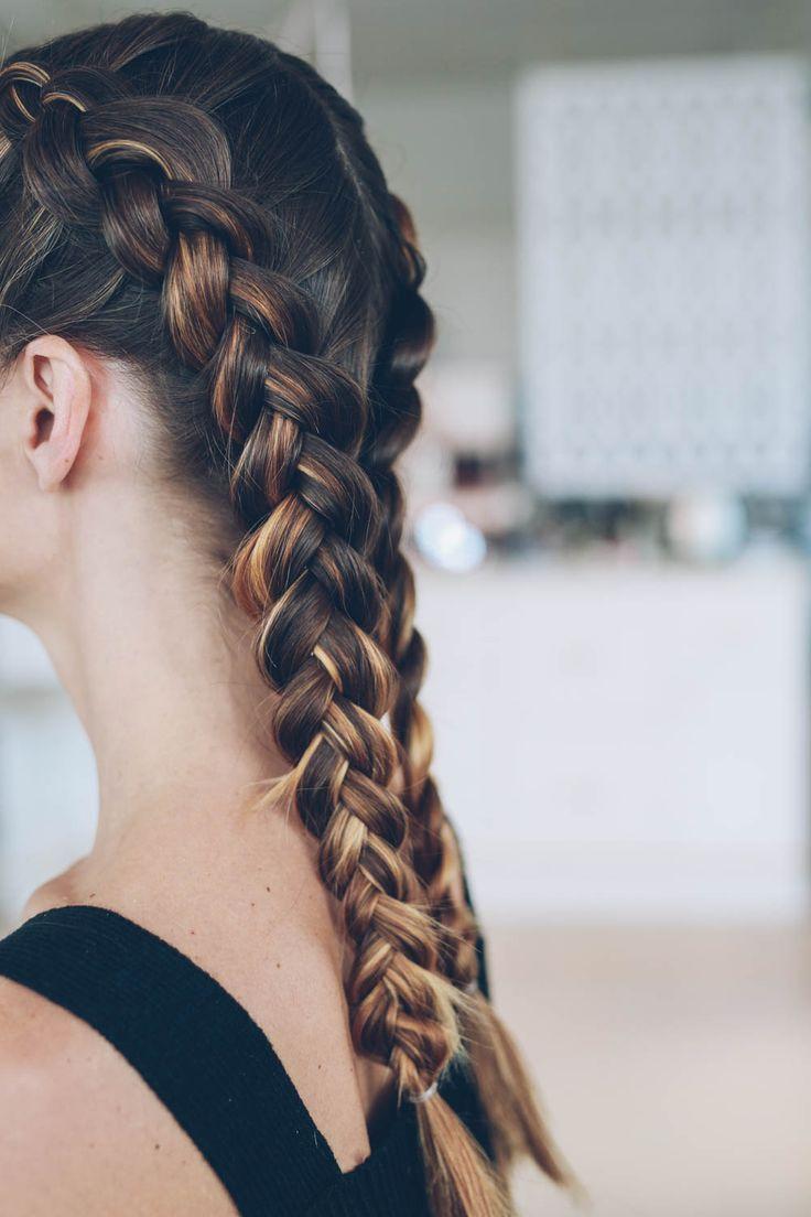 dutch boxer braids tutorial | prosecco & plaid | beautylove