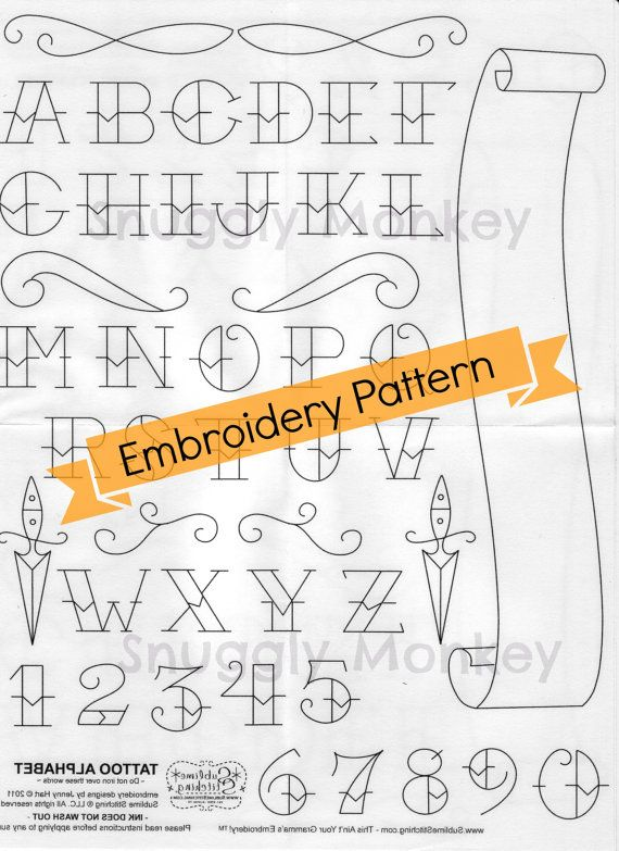 Tattoo Alphabet Embroidery Pattern | Sublime Stitching Tattoo ...