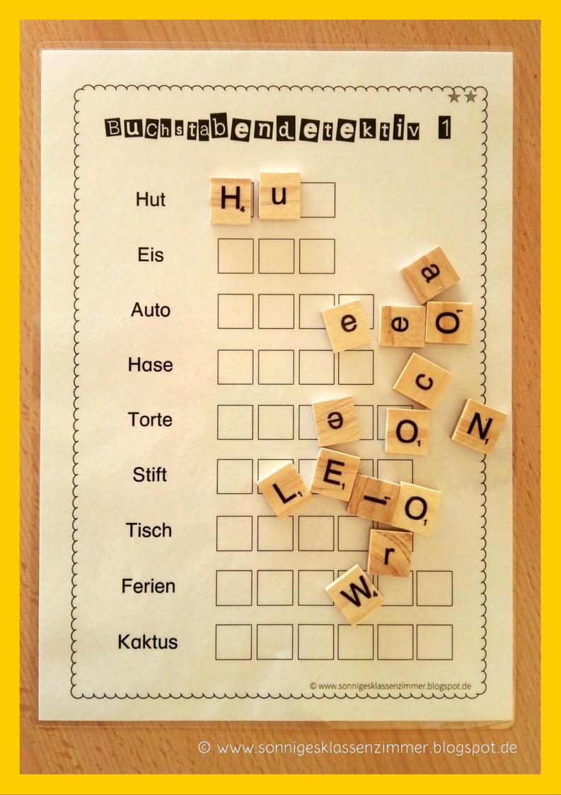Arbeitsblatt Deutsch Buchstabendetektiv Legesteinchen | 1. Klasse ...