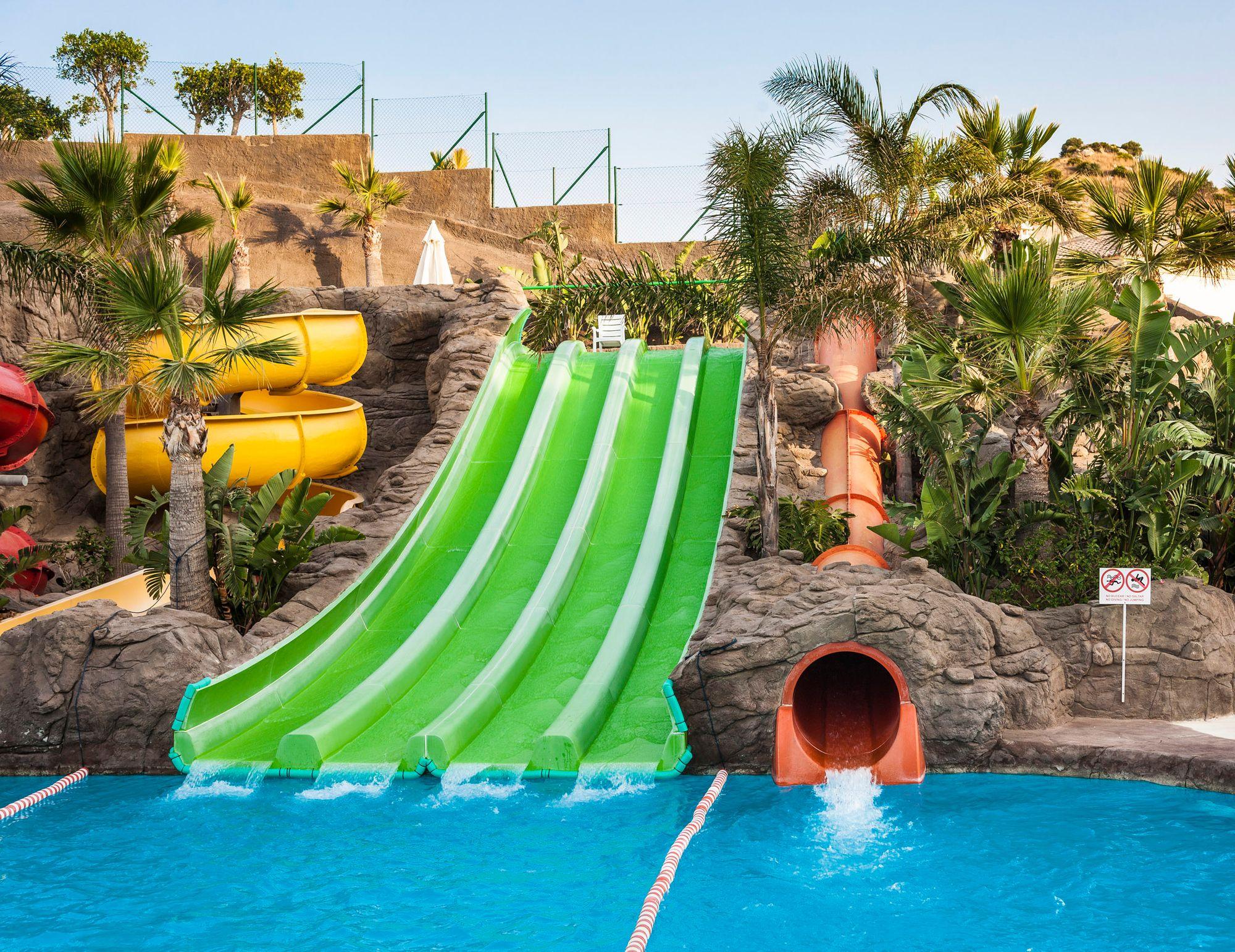 Piscinas De Nuestro Hotel En Málaga Globales Los Patos Park Pools At Our Hotel In Malaga Globales Los Patos Park Hotel Malagah In 2021 Water Park Park Hotel Hotel