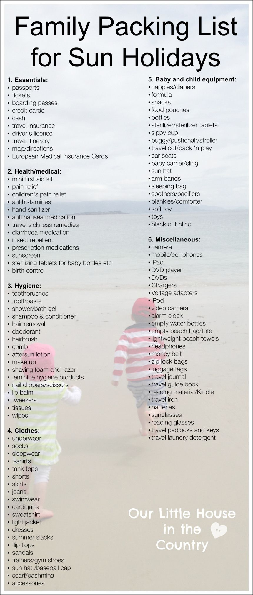 Tips For Travelling With Kids Part   Packing Tips And List