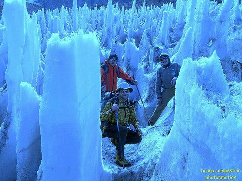 PENITENTES - These sharp ice spikes can only be found at high ...