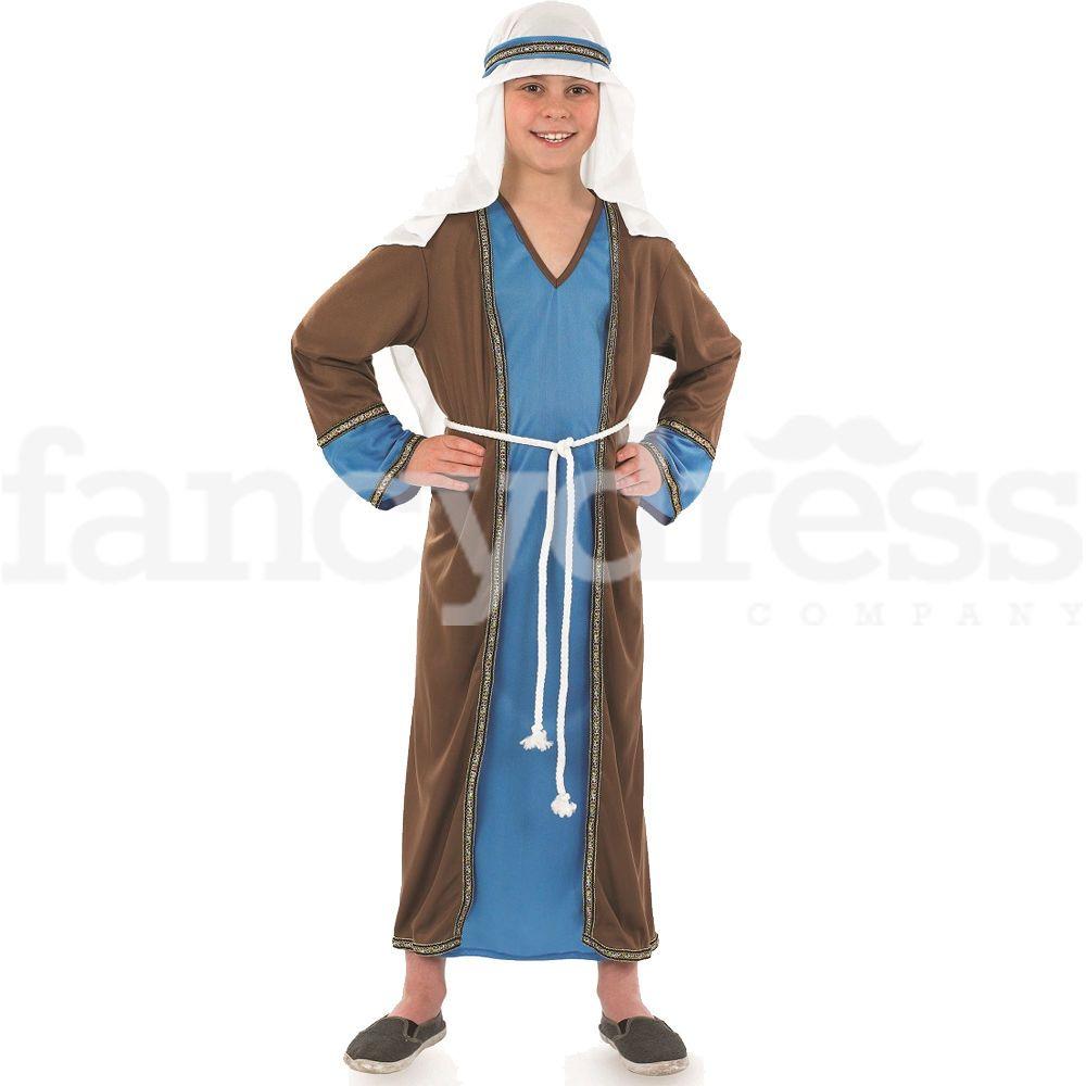 Boys Childs Shepherd Innkeeper Joseph Nativity Christmas Fancy Dress Costume