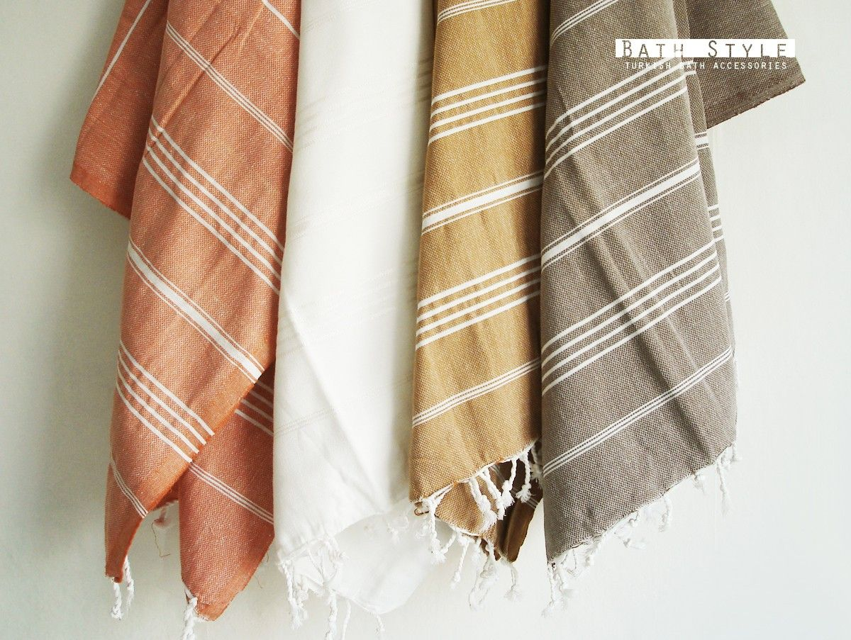 Turkish BATH Towel Classic Peshtemal Dark Mustard Via - Peach bath towels for small bathroom ideas