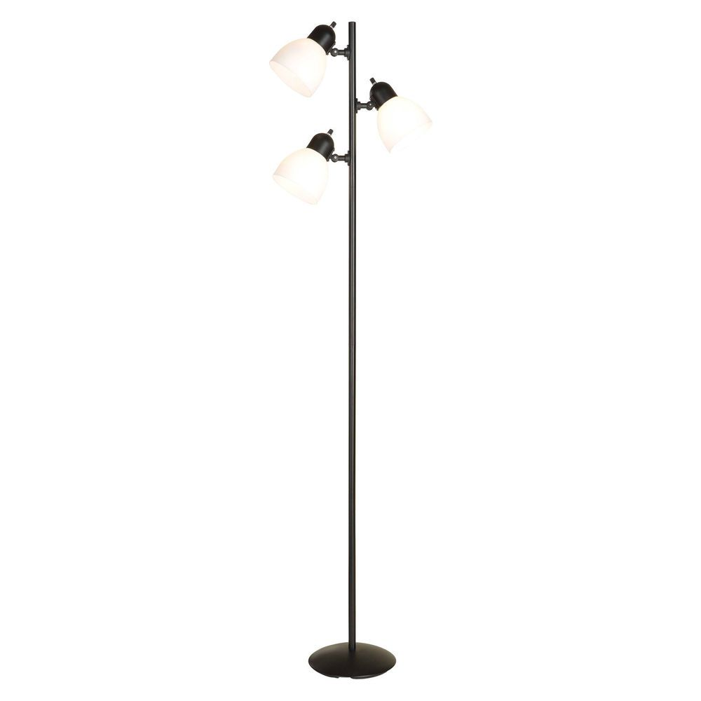 Tree Floor Lamp 3 Lights Incandescent Light Bulbs 64 Inch Black Metal Pole New Lamp Floor Lamp Incandescent Light Bulbs