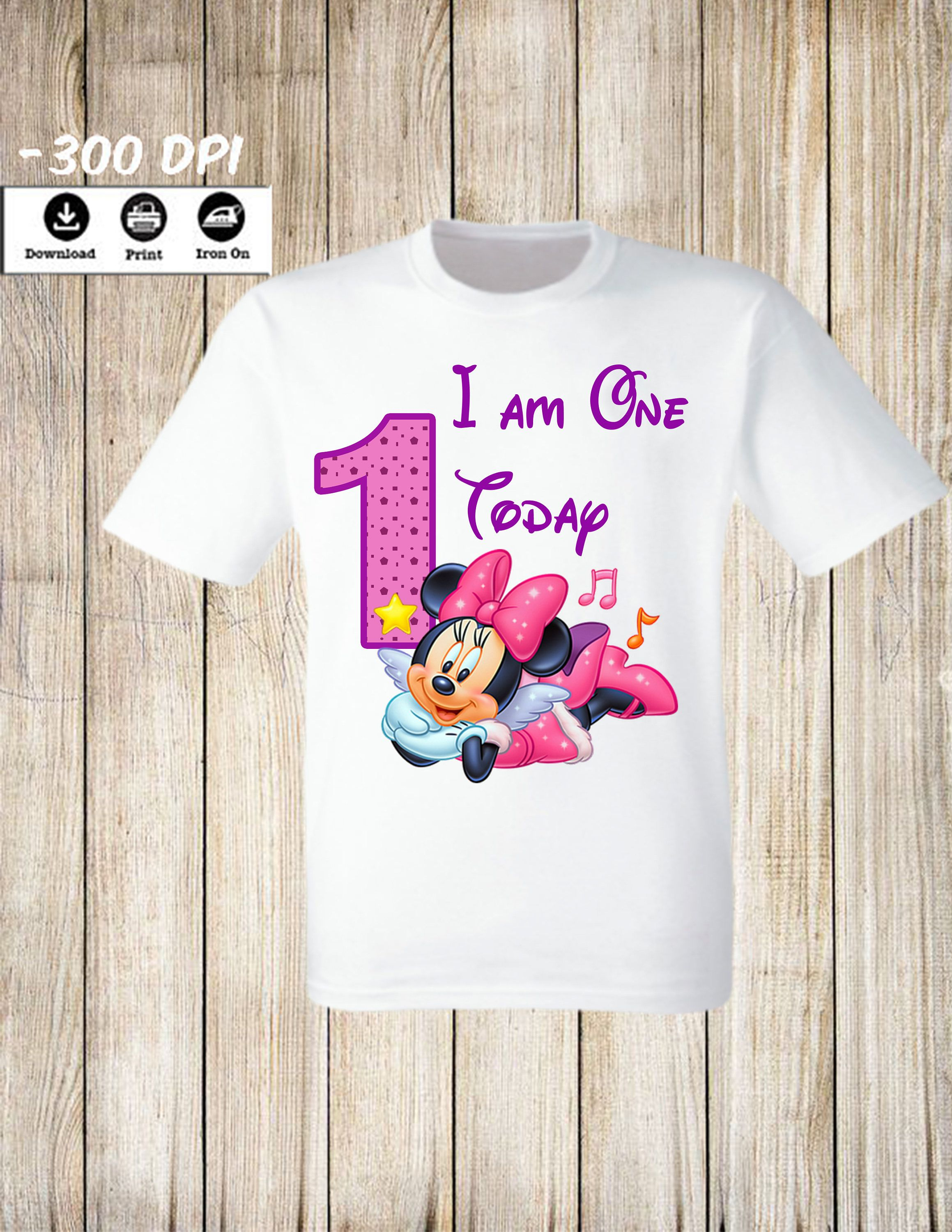 7a087d163 Minnie Birthday Minnie Iron On Transfer, Personalized Minnie Mouse Birthday  Girl T Shirt. Personalized Name and Age Iron on T-shirt.