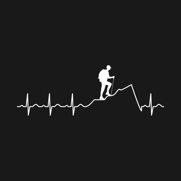 Heartbeat Hiking - A beautiful design at @Teepublic. Sponsored.