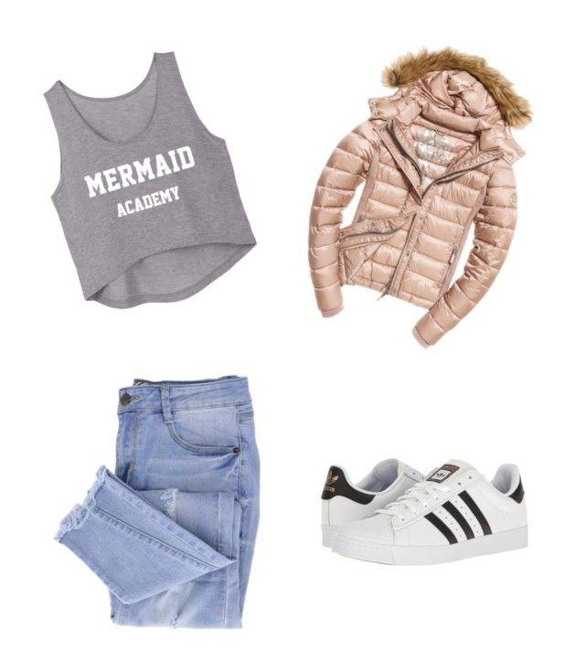 """""""Sin título #16"""" by milenataglia ❤ liked on Polyvore featuring Fuji, Essie and adidas"""