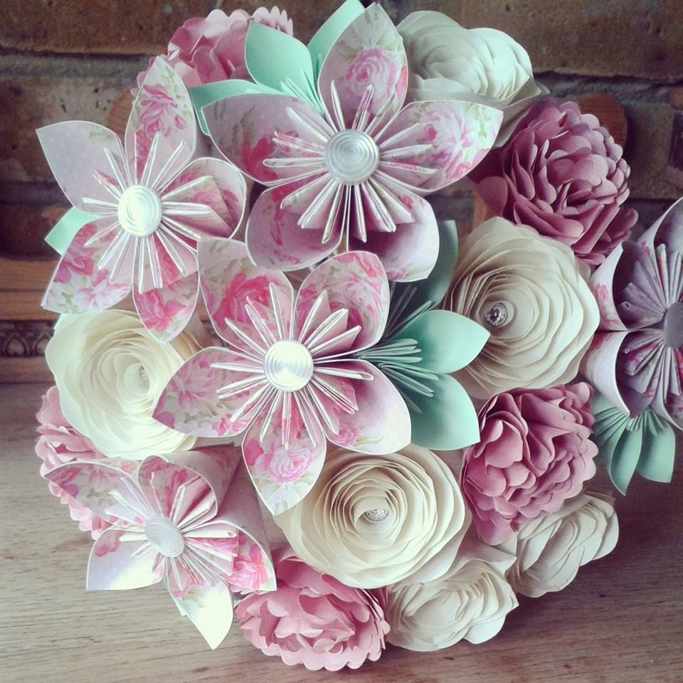 Flairforfleur All Paper Bouquets Pretty Pastels Pinks