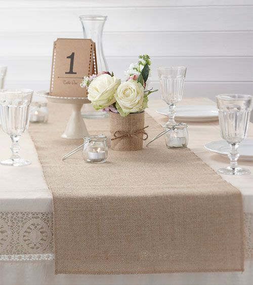 Tischlaufer Aus Jute Vintage 35 X 200 Cm Tischdecken Dekoration Bridal Shower My Bridal Tisch