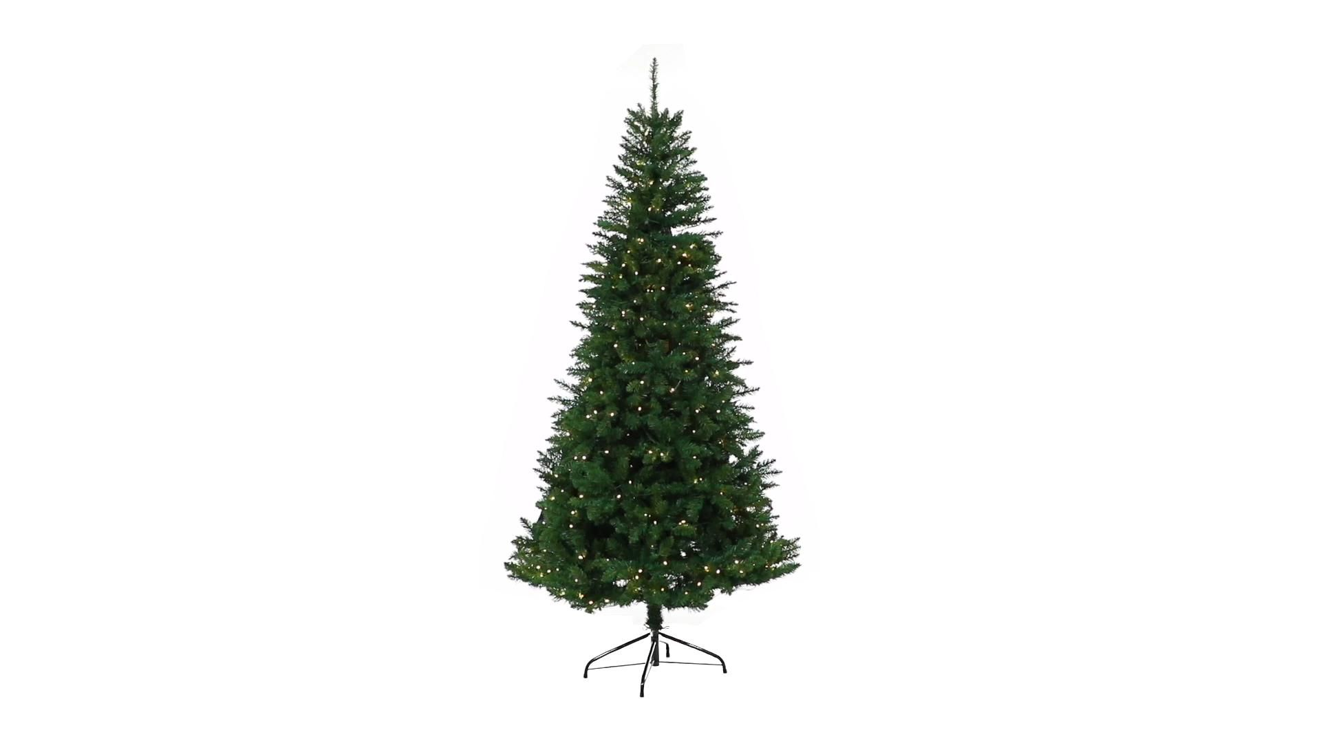 6.5' Green Valley Fir Artificial Christmas Tree with 350 Clear LED Lights 1125 Bendable Branches -   19 christmas tree 2020 simple ideas