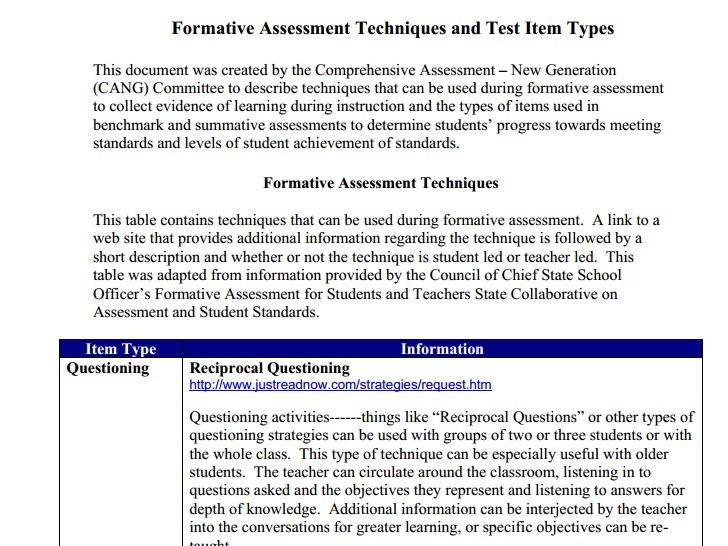 List of formative assessments Formative Assessments Pinterest - formative assessment strategies