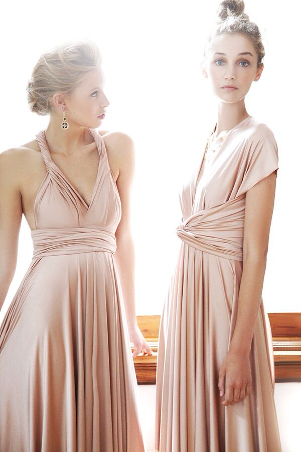 For A Simple Versatile And Practical Option Nora Elle Offer Convertible Bridesmaids Dresses Contact Us To Make Your Rose Gold Come