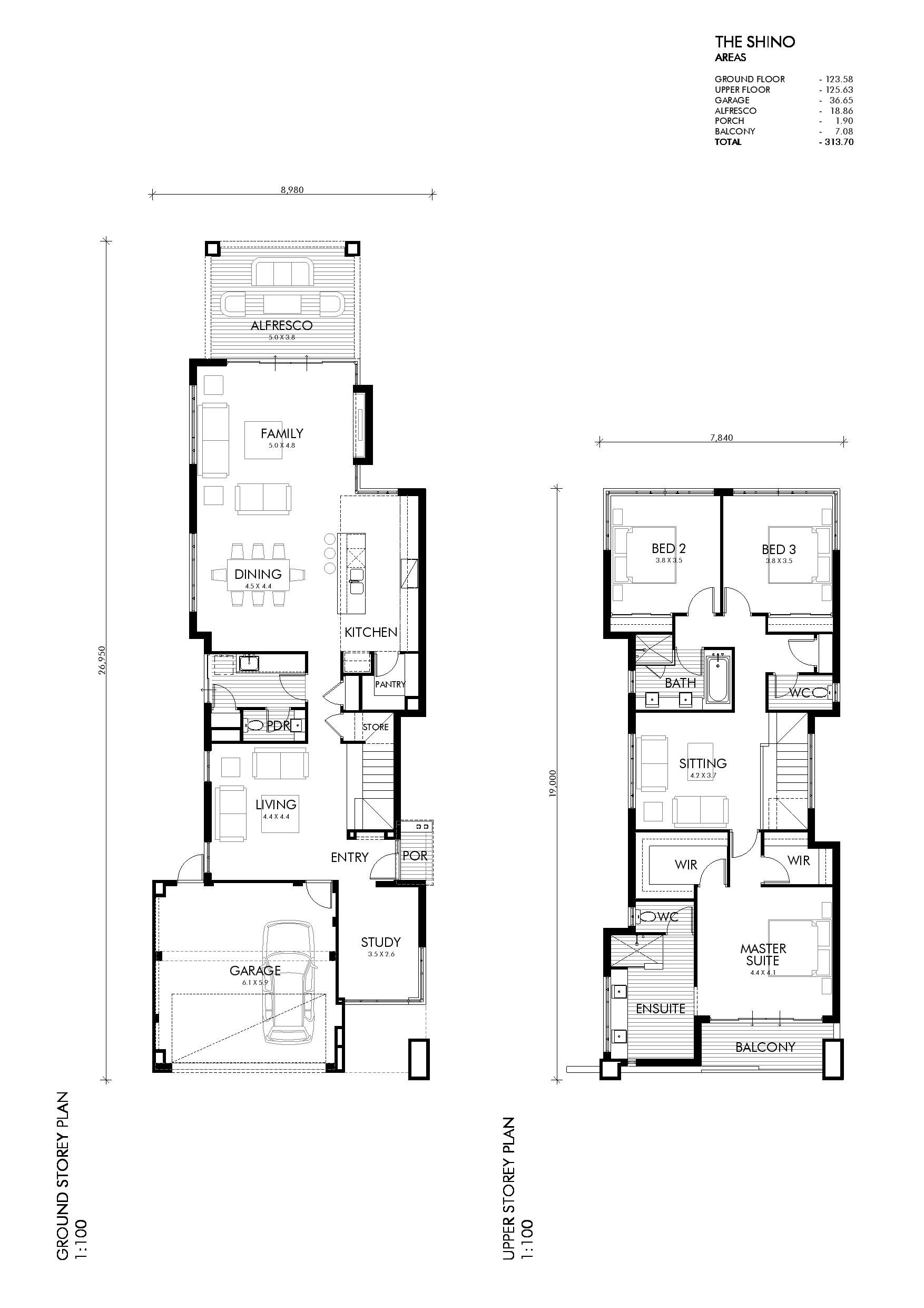 Single Amp Two Storey Home Designs Perth