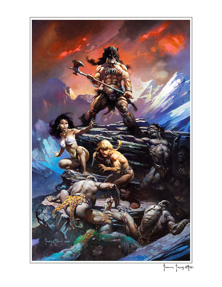 Fire and Ice Art by Frank Frazetta