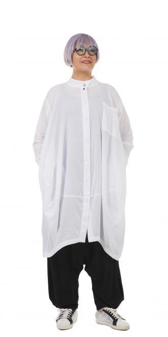 Moyuru White Architectural Shirt