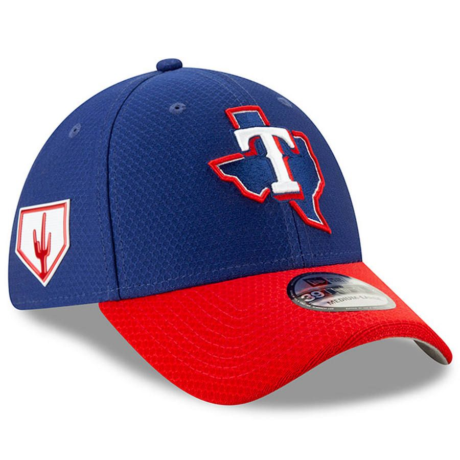f9d4c1467 Men's Texas Rangers New Era Blue 2019 Spring Training 39THIRTY Fitted Hat,  Your Price: $37.99