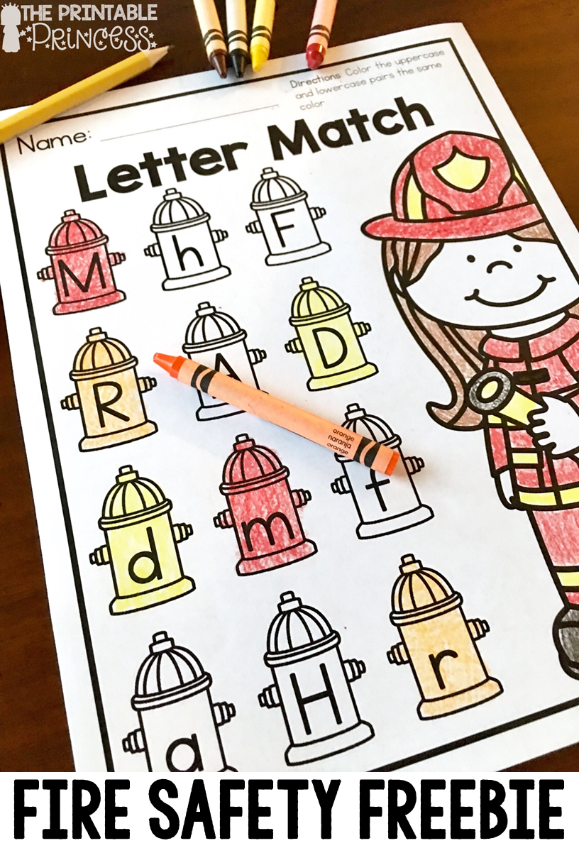 Fire Safety Activities and Centers for Kindergarten Fire