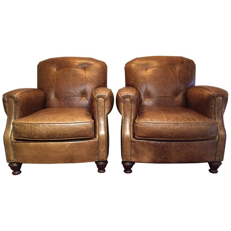 Remarkable Pair Of Century Furniture Club Chairs Manly Distressed Camellatalisay Diy Chair Ideas Camellatalisaycom
