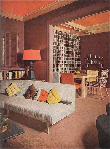 1953 Modern Living Room With Images Mid Century Living Room