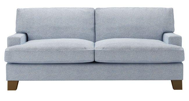 Leon Three Seat Sofa In Sky Soft Wool Uk Http